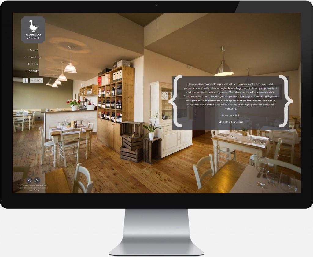Web realizzato ristorante Oca Bianca