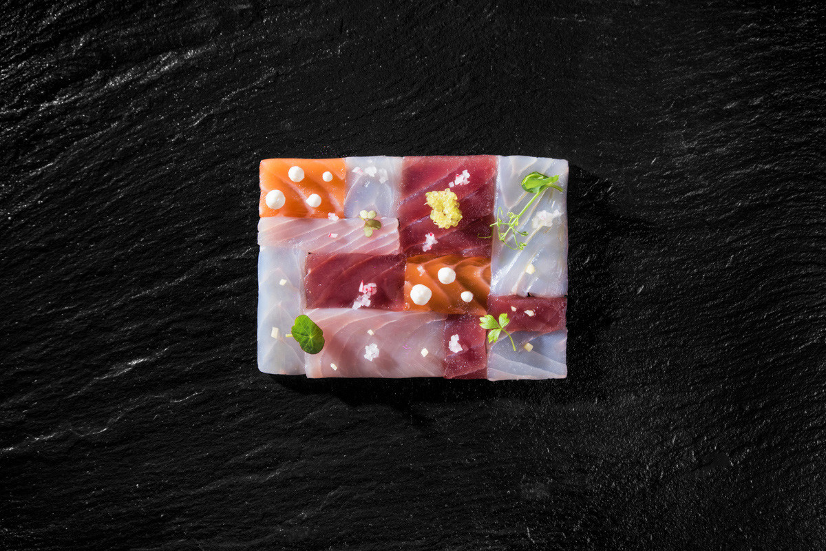 ©matteozanardi Composizione di marinate. Omaggio a mondrian